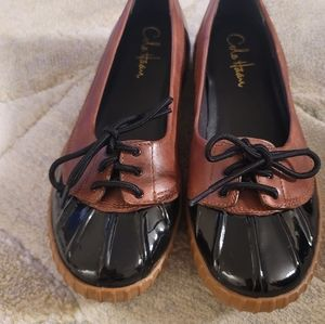 Cole Haan Womens Patent Leather Duck Flat Water Boat Deck Sport Shoes